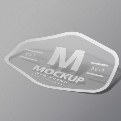 Sticker: Transparent + 1Colour/+White