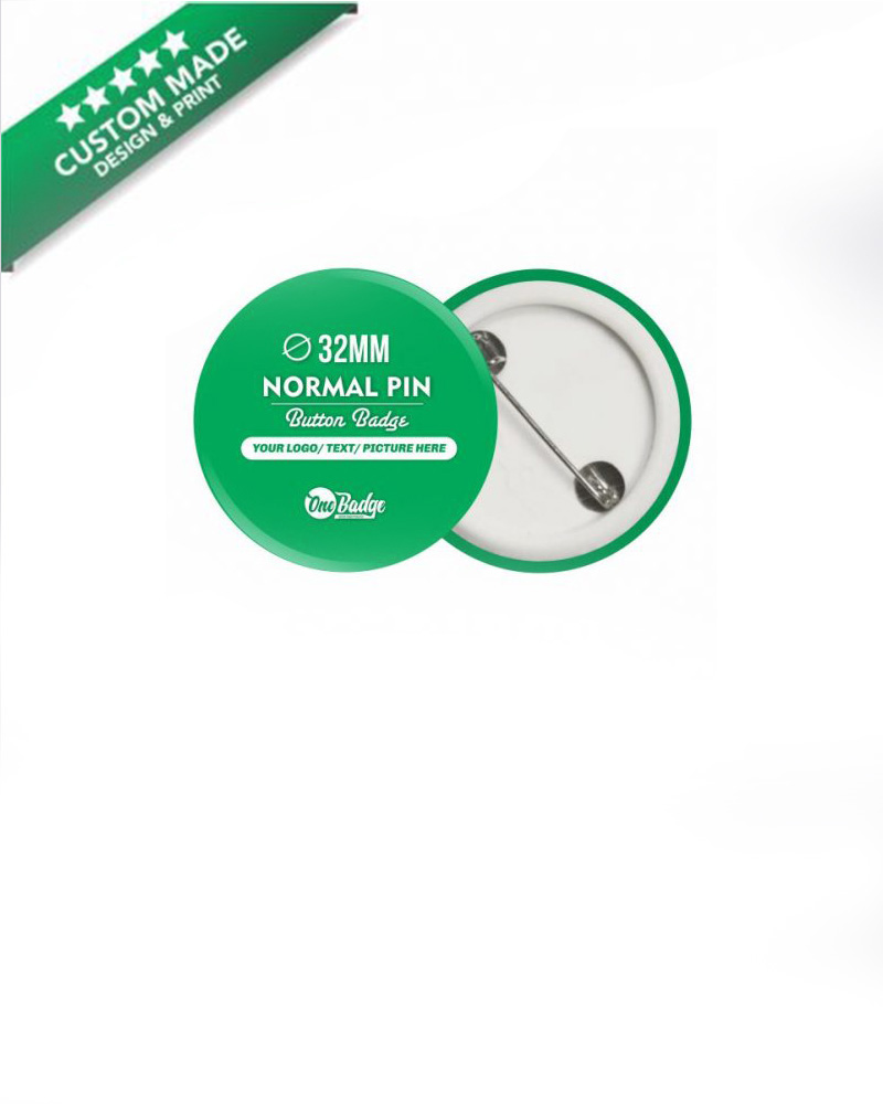 Button Badge with pin 32mm