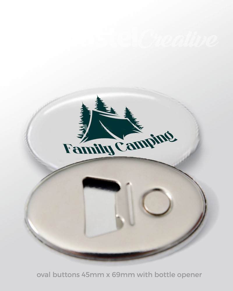 Botton Badge with Magnet Bottle Opener (Soft Touch)