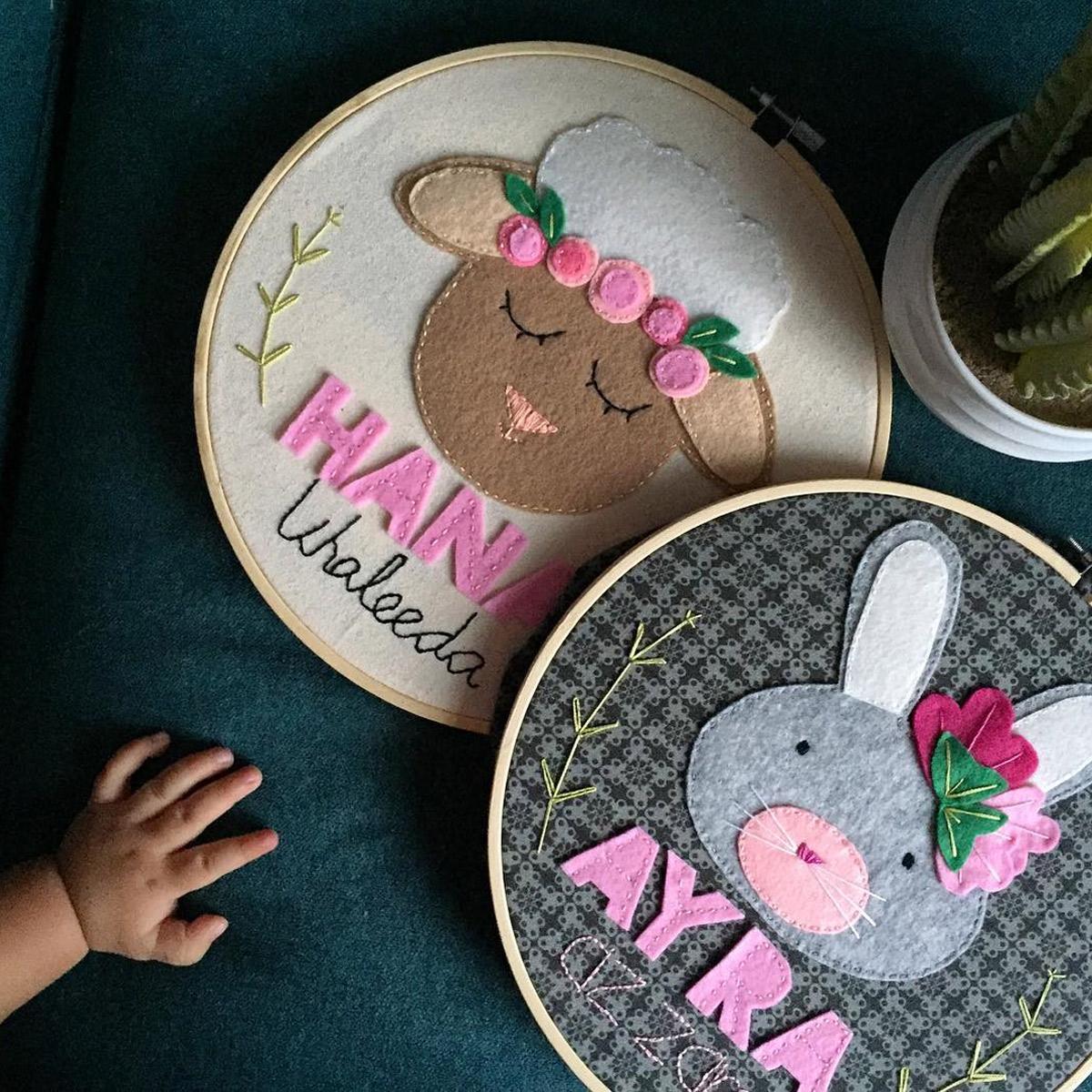 Hoop Art: Embroidery and Felt